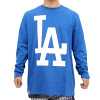 Camiseta New Era Manga Longa Los Angeles Dodgers Royal