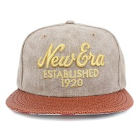 Bon� New Era 9FIFTY Strapback Script Gold Beige/Brown