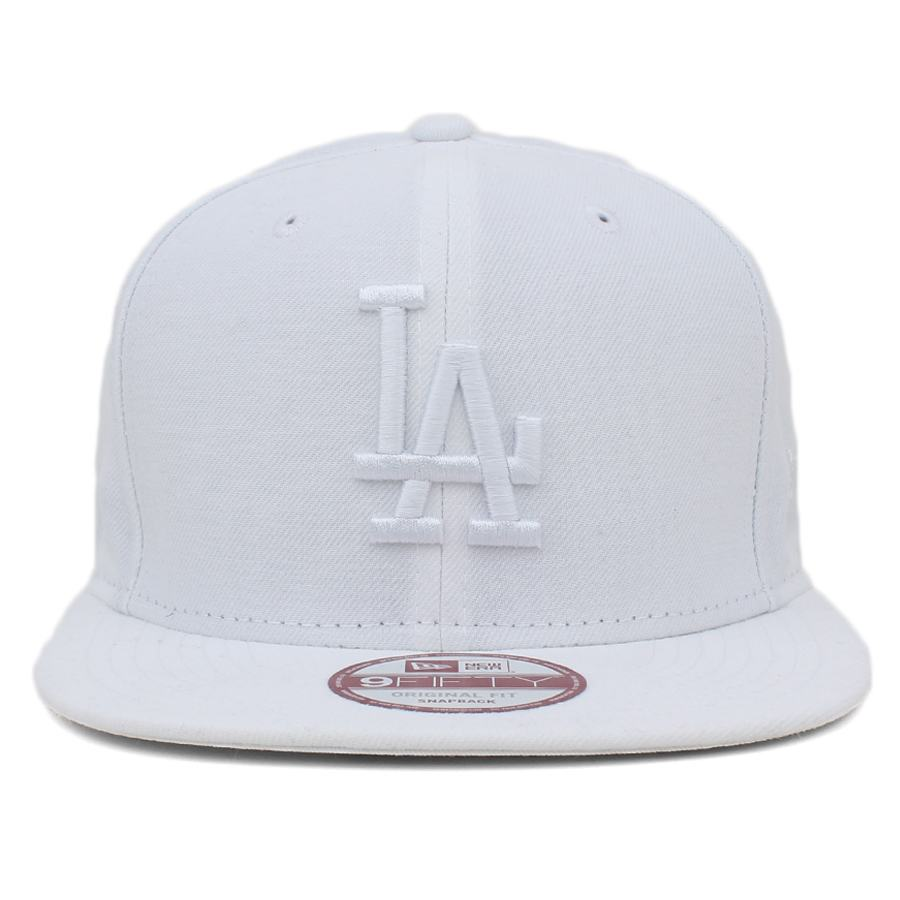 Boné New Era 9FIFTY Snapback ORIGINAL FIT Los Angeles Dodgers White / White - MLB