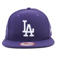 Bon� New Era 9FIFTY Strapback ORIGINAL FIT Los Angeles Dodgers Purple/White