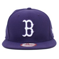 Bon� New Era 9FIFTY Strapback ORIGINAL FIT Boston Red Sox Purple