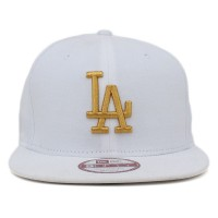 Bon� New Era 9FIFTY Snapback ORIGINAL FIT Los Angeles Dodgers White/Gold