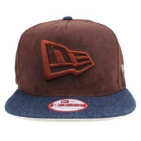Bon� New Era 9FIFTY A-Frame Strapback Logo Mescla Brown/Jeans