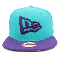 Bon� New Era 9FIFTY A-Frame Strapback Logo Mescla Green/Purple
