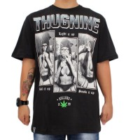 Camiseta Thug Nine Light It Up Black