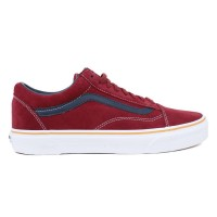 Tênis Vans Old Skool ( Suede / Leather ) Oxblood Red