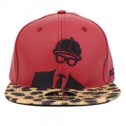Bon� Skill Head Snapback Logo On�a Premium Leather Red/On�a