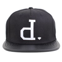 Bon� Diamond Supply Co Strapback Leather Un-Polo Black
