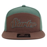 Bon� Starter Snapback Five Panel Script Green/Brown