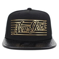 Bon� Starter Snapback New York Gold Black