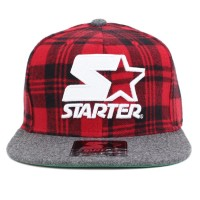 Bon� Starter Snapback Pladie Chess Red/Grey