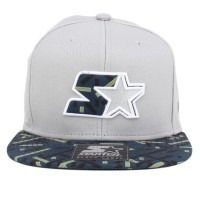 Bon� Starter Strapback Cut And Sew Grey/Navy