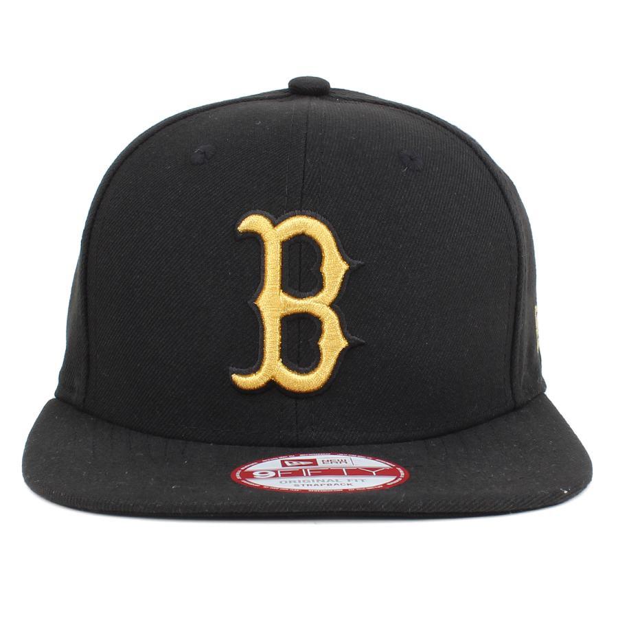 Boné New Era 9FIFTY Original Fit Strapback Boston Red Sox Black / Gold - MLB