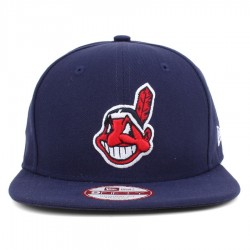 Bon� New Era 9FIFTY Original Fit Strapback Cleveland Indians navy