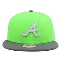 Bon� New Era 9Fifty Snapback Atlanta Braves Green Lemon/Grey
