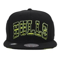Bon� Mitchell and Ness Snapback Chicago Bulls Black/Green