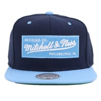 Bon� Mitchell and Ness Snapback Script Navy/Blue