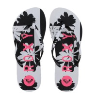 Chinelo Roxy Mimo White/Black/Pink