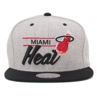 Bon� Mitchell and Ness Snapback Miami Heat Grey/Black