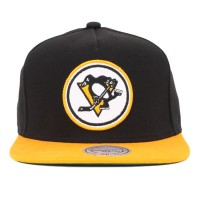Bon� Mitchell And Ness Strapback Pittsburgh Penguins Black/Yellow