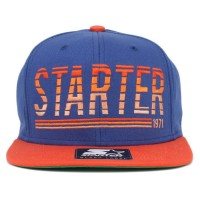 Bon� Starter Snapback Script Blue/Orange
