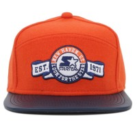 Bon� Starter Snapback Five Panel Label Orange/Navy