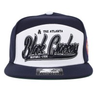 Bon� Starter Strapback Five Panel Atlanta Black Crackers Navy/White