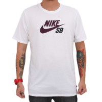 Camiseta Nike SB Icon Logo White/Purple
