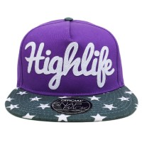 Bon� Official Snapback Highlife Purple/Printed