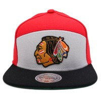 Bon� Mitchell And Ness Snapback Chicago Blackhawks Red/Grey/Black