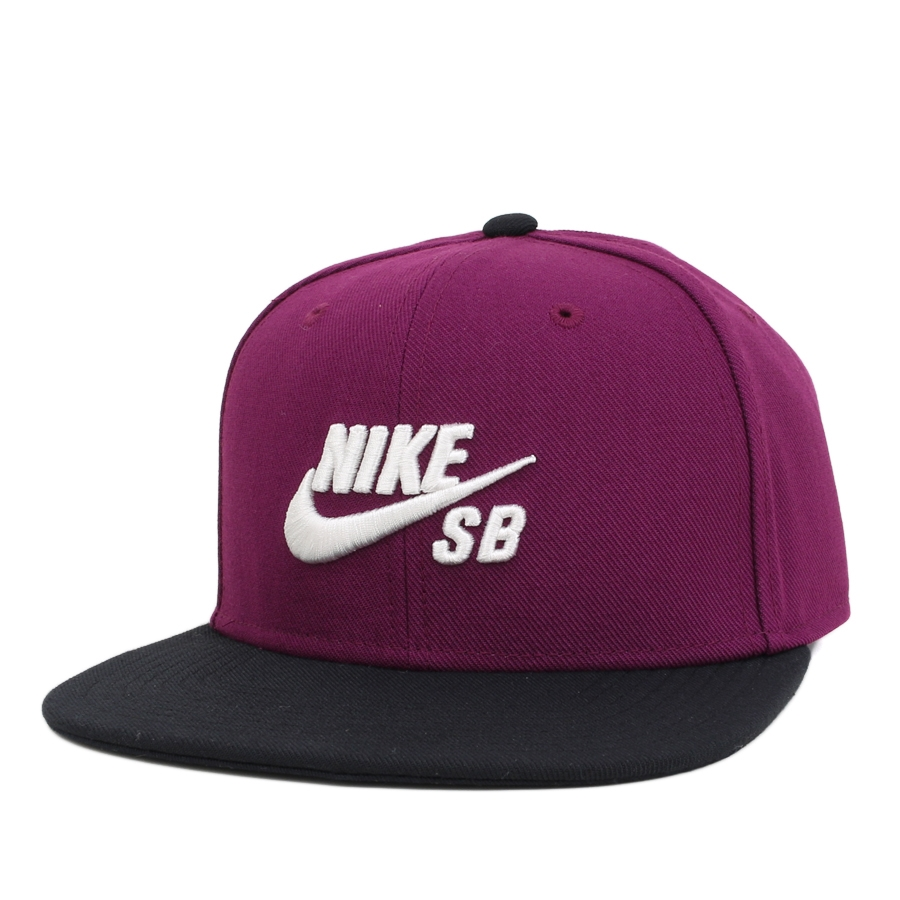 Purple and black nike logo