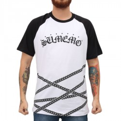 Camiseta Sumemo Correntes Raglan White/Black