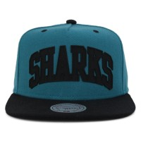 Bon� Mitchell and Ness Snapback San Jose Sharks Green/Black