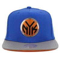Bon� Mitchell and Ness Snapback New York Knicks Royal/Grey