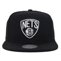 Bon� Mitchell and Ness Snapback Brooklyn Nets Black