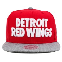 Bon� Mitchell and Ness Snapback Detroit Red Wings Red/Grey