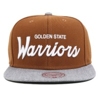 Bon� Mitchell and Ness Snapback Golden State Warriors Brown/Grey