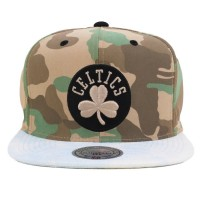 Bon� Mitchell and Ness Snapback Boston Celtics Camo Green/Blue