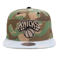 Bon� Mitchell and Ness Snapback New York Knicks Jeans Camo Green/Blue