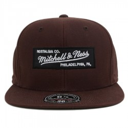 Bon� Mitchell And Ness Hi Crown Fitted Logo Brown