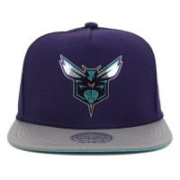 Bon� Mitchell And Ness Snapback Charlotte Hornets Purple/Grey