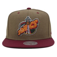Bon� Mitchell And Ness Snapback Seattle Super Sonics Green/Wine