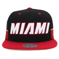 Bon� Mitchell And Ness Snapback Miami Heat Black/Red