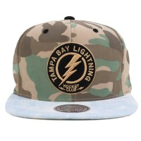 Bon� Mitchell And Ness Snapback Tampa Bay Lightning Camo Green/Blue