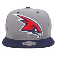 Bon� Mitchell and Ness Snapback Atlanta Hawks Grey/Navy