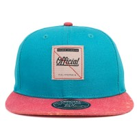 Bon� Official Snapback Script Green/Salmon