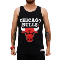 Camiseta Mitchell and Ness Regata Chicago Bulls Black