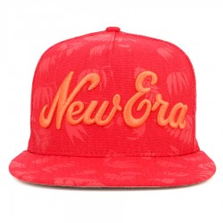 Bon� New Era 9FIFTY A-Frame Strapback Script Red Printed