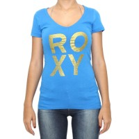 Camiseta Roxy Bronze Powder Blue Feminino