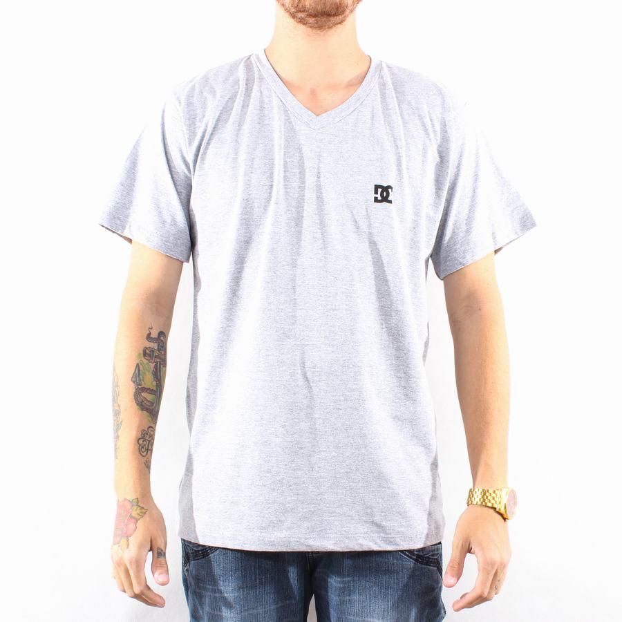 Camiseta DC Shoes Special V Neck Grey - Slim Fit